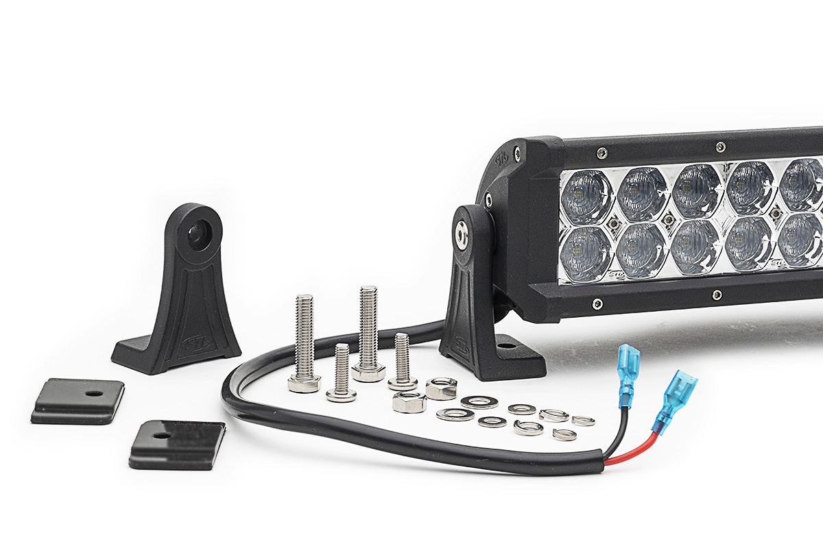 2 Pack Dual Carbine Floodlight Off Road 50 Inch LED Light Bar Mounting Hard