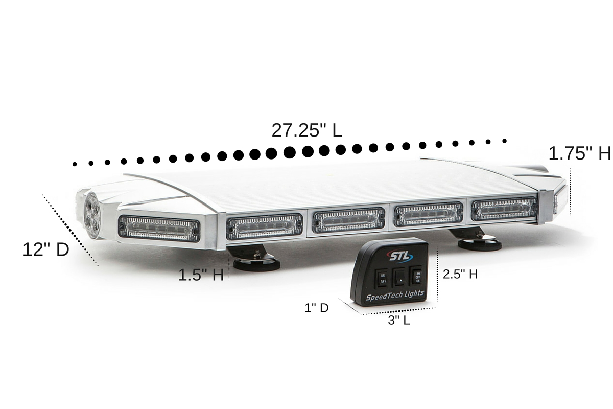 K-Force 27 Linear LED Mini Light Bar Dimensions