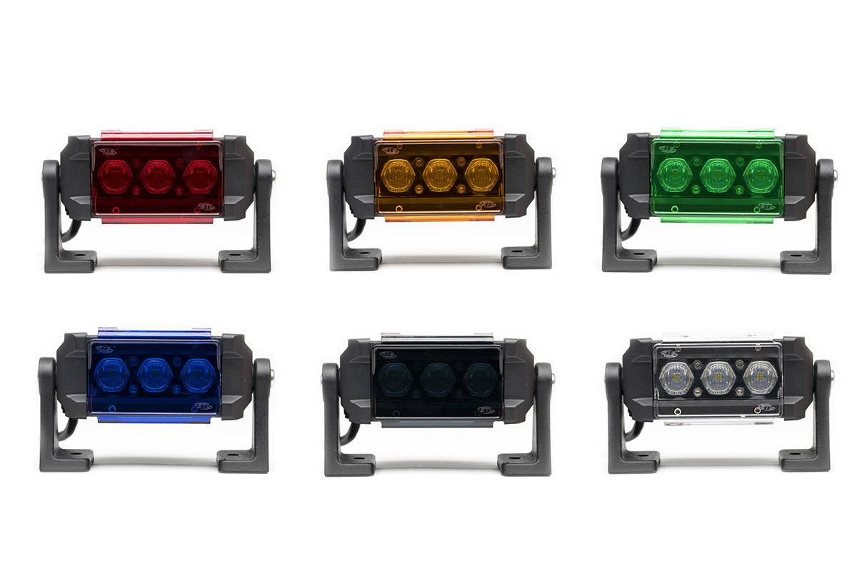 Carbine Series Off Road Light Bar Colored Lens Covers Single Units