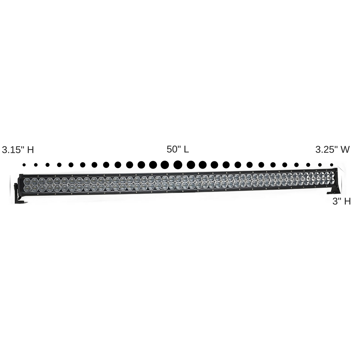 dual carbine 50 u0026quot  flood off road curved led light bar