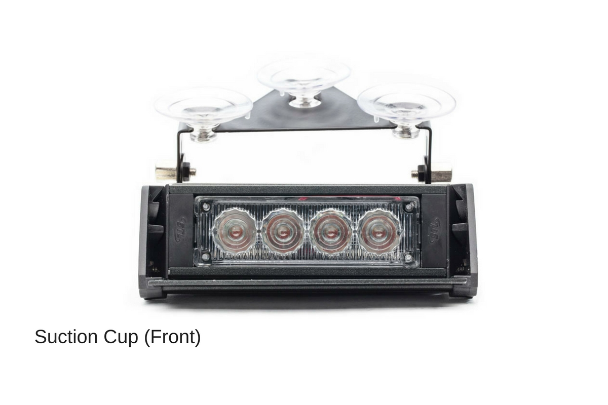 Striker-1 TIR 1-Head LED Dash Light Suction Cups