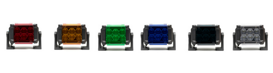 4 Pack Dual Carbine Floodlight 5 Inch Off Road LED Light Bar All Lenses