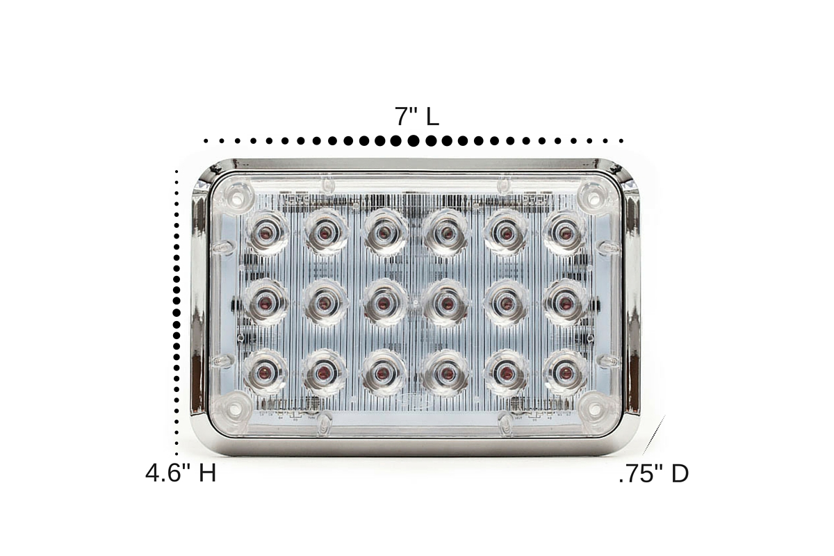 Alpha 6x4 LED Surface Mount Dimensions